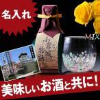 名入れ プレゼント 沖縄産琉球硝子 キャンディ風ぐいのみ &吟醸酒セット