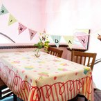 誕生日飾りのフラッグ バナー ハッピーバースデー カップケーキ