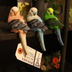 パラキート クリップ インコ型のクリップ 小鳥のオブジェ 置物 インテリア