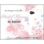 スマホケース AQUOS Xx3 mini 603SH ハードケース/TPUソフトケース Pastel Flower type004 パステル 花 フラワー ピンク ホワイト