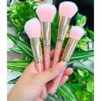 メイクブラシ、メイクブラシセット、化粧ブラシセット 大好評,高品質,4本セット,かわいい,ピンク STZ-0409