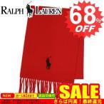 ラルフローレン マフラー RALPH LAUREN 6F0349 BIG PONY EMBROIDERED SCARF 611 BRISOTL RED/BLACK サイズ:L167.5*W30.5 フリンジ10【型式】4293520349033