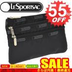 ◇→ レスポートサック ポーチ 新作  LESPORTSAC  3 Zip Cosmetic 7158 5922/5982 Black Solid