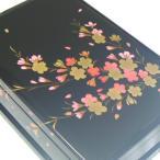 ショッピングオルゴール 曲目選択 会津塗り(大 黒 桜) 宝石箱オルゴ‐ル 和風