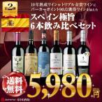 赤ワインセット 全て金賞受賞 10年熟成ワインや1999年ヴィンテージが入ったスペイン極旨赤6本飲み比べセット 送料無料 帝国酒販