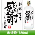 【送料無料】 メッセージボトル 米焼酎 720ml 手書きラベル