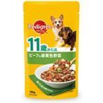ペディグリー 犬 ドッグフード パウチ 11歳から用 シニア犬 おいしさと栄養バランス ビーフ&緑黄色野菜 130g