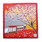 京都伝統小風呂敷 紅葉茶屋 50cm角