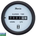 FARIA製ゲージ アワーメーター(時間計) ホワイト