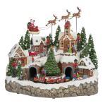 【送料無料】スノー ホリデービレッジ クリスマスデコレーション クリスマスソング8曲収録♪ クリスマスツリーとトレイン クリスマス飾り ※同梱不可商品