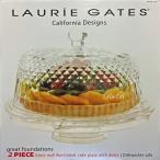 LAURiE GATES ガラス製ケーキスタンド ふた付/ドーム型 8号(24cm) 直径約27cm サービングスタンド/ケーキ保存容器