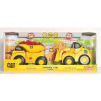 CAT「ランブリングライド ダンプカー&ホイールローダー2台セット」 Rumblin' Ride 2 Pack Dump Truck & Wheel Loader