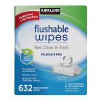 KS モイストフラッシャブルワイプ ウェットティッシュ 60枚×10パック入り(計600枚) 流せるおしりふき/コストコ/moist flushable wipe