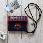 FCバルセロナ 公式 横型ウォレット 2つ折り財布 小銭入れ オフィシャルグッズ