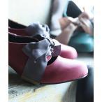レディース パンプス 靴 リボンモチーフ チャンキーヒール somariリボンパンプス 【ネコポス不可】