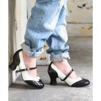 レディース 靴 シューズ パンプス 歩きやすい ソマリ 配色 バイカラー ローヒール somariバイカラー2wayベルトパンプス 【メール便不可】