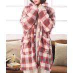 着る毛布シリーズ レディース 秋冬 ルームウェア 部屋着 羽織 チェック メンズ ユニセックス 『ふわもこ羽織る毛布』【メール便不可】