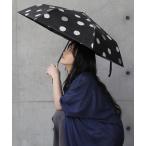 折りたたみ傘 レディース 晴雨兼用 日傘兼用 雨傘 2way コンパクト収納 ドット柄 50cm UVカット 紫外線カット『ランダムドット柄折りたたみ傘』【メール便不可】