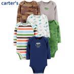カーターズ 長袖 ボディスーツ Carter's 6枚セット 正規品 ベビー 女の子 男の子 3m-24m