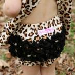 ラッフルバッツ Ruffle Butts フリフリブルマ パンツ レオパード×ブラック 女の子 フリル付 ブルマ おむつカバー 3m6m12m18m24m