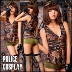 ハロウィン アーミー コスプレ ポリス 迷彩 制服 セクシー 婦人警官 迷彩 衣装 かわいい セクシー