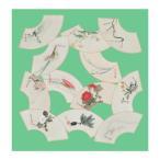 宮井 ふろしき 細見美術館コレクション ポリエステル70cm幅 酒井抱一 扇面ちらし 春 12-7612-52