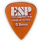 ピック 5セット ギター ベース ESP PT-PSU08 Orange Tear Drop ULTEM Pick ティアドロップ ウルテム ピック 0.8mm