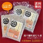 (送料無料)国産 宮崎県高千穂産 精麦もち麦300g 4個セット