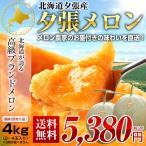 北海道 夕張産 訳あり 個撰 夕張 メロン 約4kg(2〜4玉) めろん 送料無料 赤肉 フルーツ 果物 天候の関係より7月上旬頃から出荷開始予定となります。