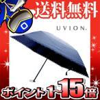 UVION 軽量三段ミニ折傘 ピンドット ネイビー