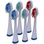 音波歯ブラシ デンタルソニックプロ リニア用替えブラシ6本組