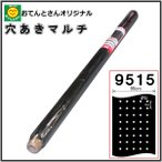 穴あき黒マルチ(穴あきマルチ)  9515 厚0.02mm×巾95cm×長50m