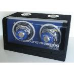 ウーファーボックス フルレンジ アンプ内蔵 FUSION レミックス REMIX FSN-WX17L 12V車専用 ブルーLEDイルミネーション付き