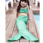 二点送料無料水着 ベビー 女の子 人魚姫 マーメイドコスプレキッズ 水着 女の子 セパレート 子供 女児用 みずぎ 3点セット人魚姫 水着 上下セット 子供服