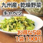乾燥野菜 キャベツ 5袋セット 1袋28g 生野菜310g相当 九州産野菜 安心安全国産 長期保存が可能なエアドライ 非常食 保存食 備蓄食