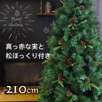 クリスマスツリー 210cm スリムタイプ 松ぼっくり ベリー付き リアルなもみの木 飾り 北欧 おしゃれ ヌードツリー 2019