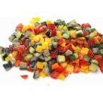 イタリアンミックスMサイズ1.5cmカット500g(冷凍野菜)黄パプリカ・赤パプリカ・ズッキーニ・ナスの4種の美味しい野菜