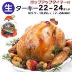 クリスマス  グルメ 取り寄せ 2017 パーティー レシピ 22〜24ポンド(約9.9〜10.8Kg) ターキー(七面鳥) 丸鳥 生冷凍 【即納可】