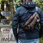 ボディバック レザー メンズ 本革 イタリアン moblis ブランド ボディーバッグ 迷彩 カモフラージュ WAXグレー ナチュラル