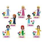 レゴ互換 プリンセス8体セット プリンセス  ミニフィグ ブロック ミニフィギュア