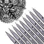 製図ペン 9本セット 漫画用ペン 防�
