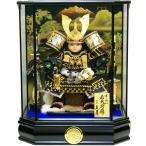 五月人形 久月作 家紋「子供大将」 武者人形ケース飾り(T53707)
