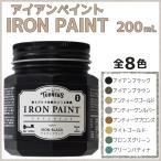 ターナー色彩 アイアンペイント 200mL 全6色 金属のような質感 メタリック調 耐水性 ペンキ 水性塗料 DIY リメイク