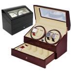 Watch Case - ワインディングマシーン 4本巻 マブチモーター ウォッチワインダー 時計収納ケース付 KA074 自動巻き時計に