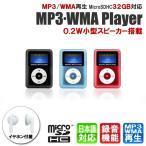 MP3プレーヤー スピーカー搭載 microSD式MP3/WMAプレーヤー DT-SP08 送料無料