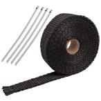 マフラーサーモバンテージ 耐熱・断熱テープ 25mmx5m 黒色 ODGN2-YZM011-B