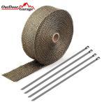 マフラーサーモバンテージ 耐熱・断熱テープ 25mmx5m チタンカラー ODGN2-YZM011-T