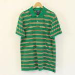【古着】 RALPH LAUREN ラルフローレン polo jeans ポロジーンズ ボーダーポロシャツ グリーン系 メンズXL n001578