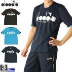 テニスウェア ディアドラ DIADORA メンズ DTP9583 ロゴトップ 2012 ロゴT ゆうパケット対応