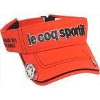 Le coq sportif GOLF メンズ コットンツイルクリップマーカー付きバイザー QG0265 R459 2008 ゴルフ ウェア ルコックゴルフ